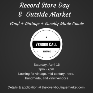 We're looking for vendors!